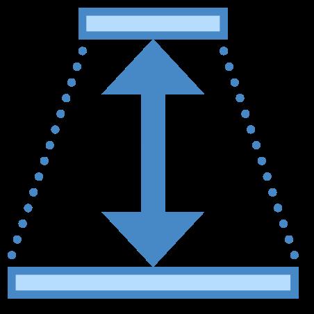 깊이 icon in 파란색 UI