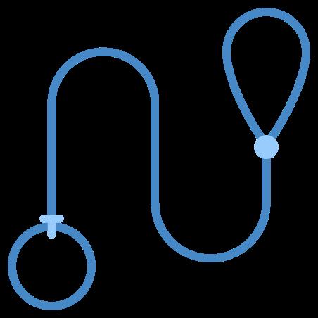 Dog Leash icon in Blue UI