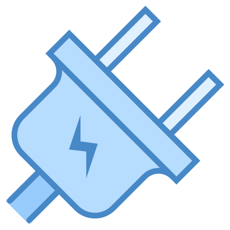 Electrical icon in Blue UI