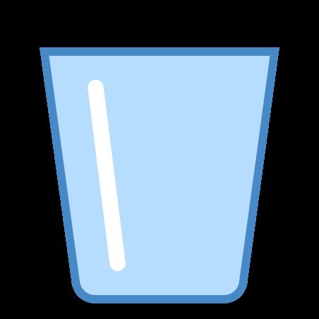 휴지통 비우기 icon in 파란색 UI