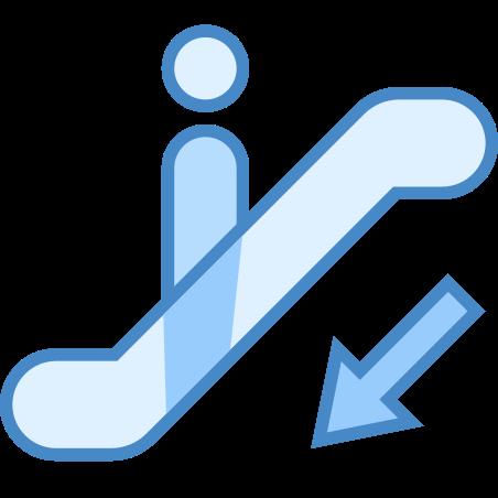 에스컬레이터 아래로 icon