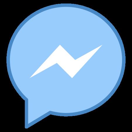 Facebook Messenger icon in Blue UI