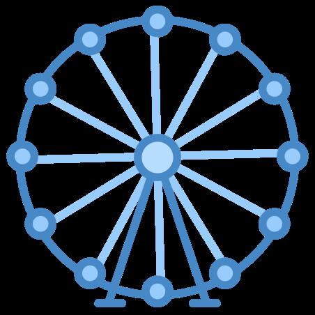 Ferris Wheel icon in Blue UI