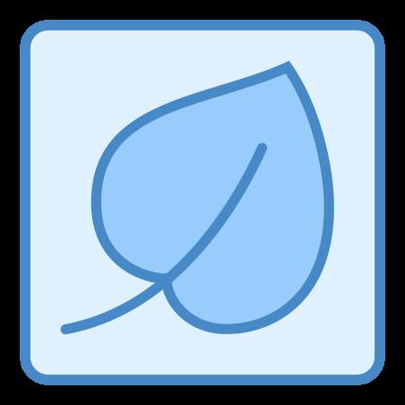 섬유 icon in 파란색 UI