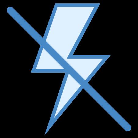 Flash desligado icon