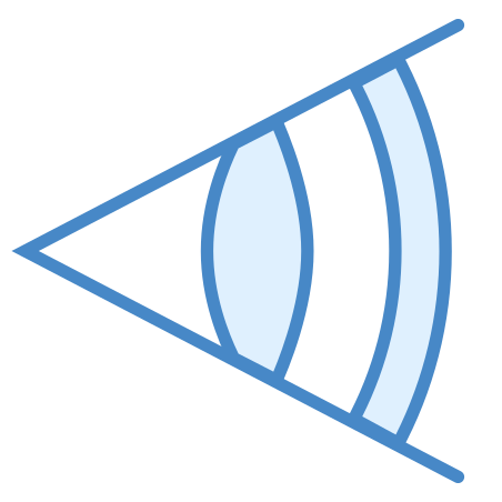 Focal Length icon in Blue UI