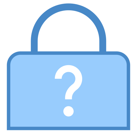 Forgot Password icon in Blue UI