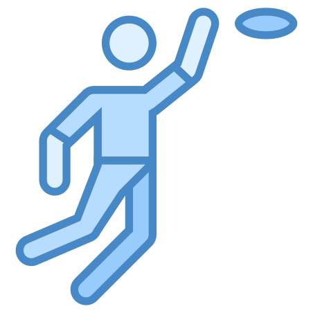 Frisbee icon in Blue UI