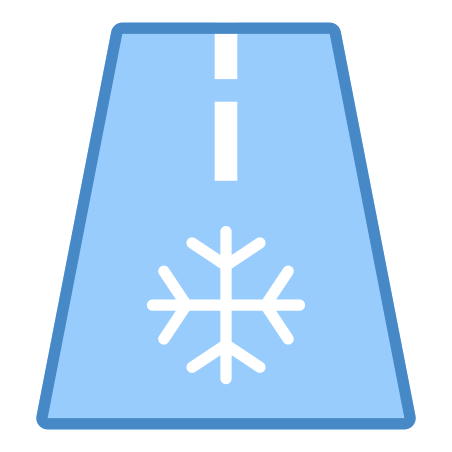Frost Warning icon in 파란색 UI