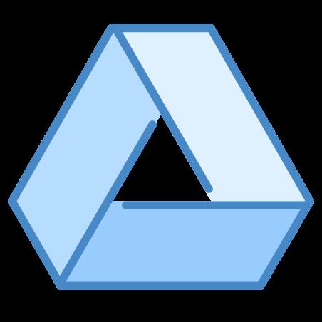 Google Drive icon in Blue UI