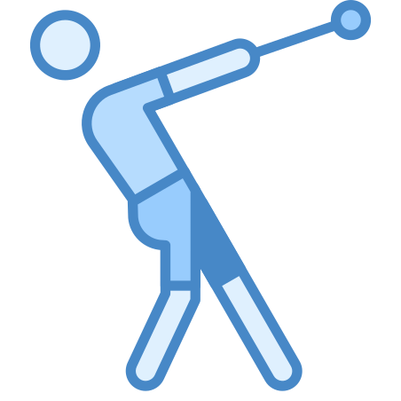Hammer Throw icon in Blue UI