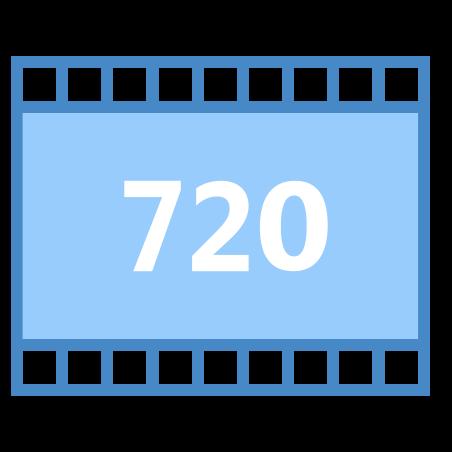 HD 720p icon in Blue UI