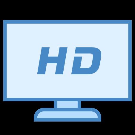 HDTV icon in Blue UI