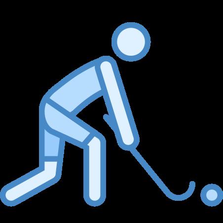 Field Hockey icon in Blue UI