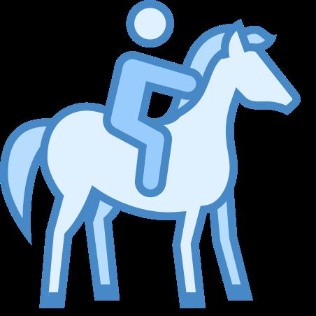 Horseback Riding icon in Blue UI