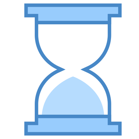 Sand Timer icon in Blue UI