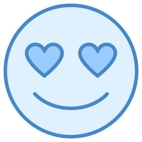 In Love icon in Blue UI