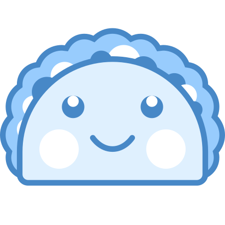 Kawaii Taco icon in Blue UI