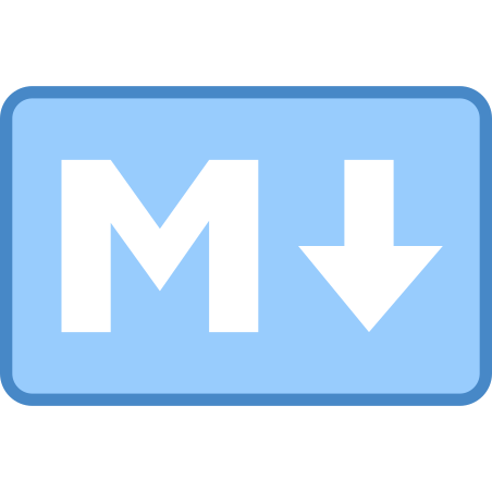 Markdown icon in Blue UI