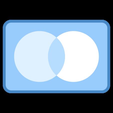 마스터 카드 icon in 파란색 UI