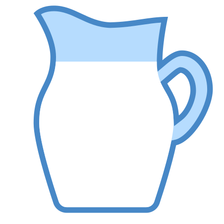 Milk icon in Blue UI