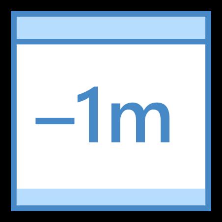 Minus 1 Month icon
