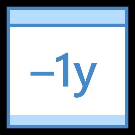 Minus 1 Year icon