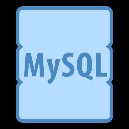 MySQL의 icon in 파란색 UI