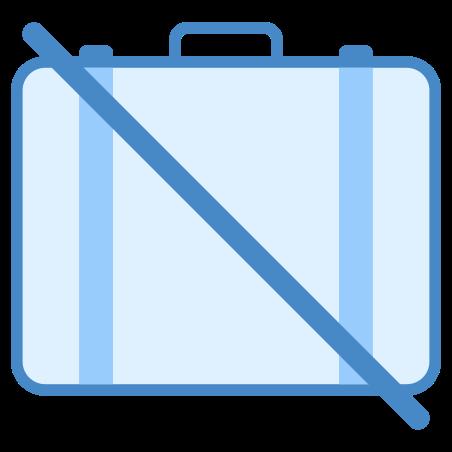 어떤 수하물 없음 icon in 파란색 UI