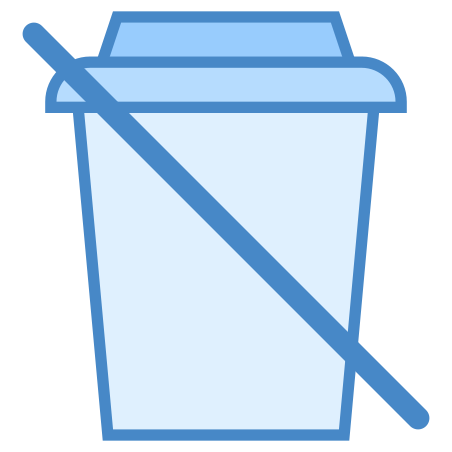No Beverages icon in Blue UI