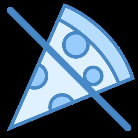 No Food icon in Blue UI