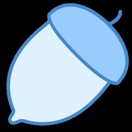 Nut icon in Blue UI