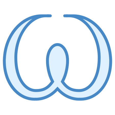 Omega icon in Blue UI