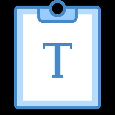 텍스트로 붙여 넣기 icon
