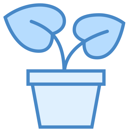Potted Plant icon in Blue UI