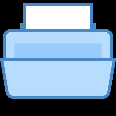 Printer icon in Blue UI