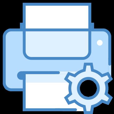 Printer Maintenance icon in Blue UI