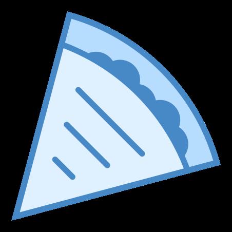 Quesadilla icon in Blue UI