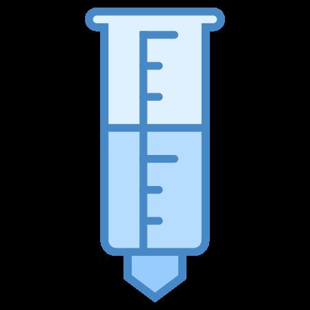 우량계 icon in 파란색 UI