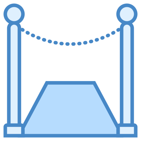 Red Carpet icon in Blue UI