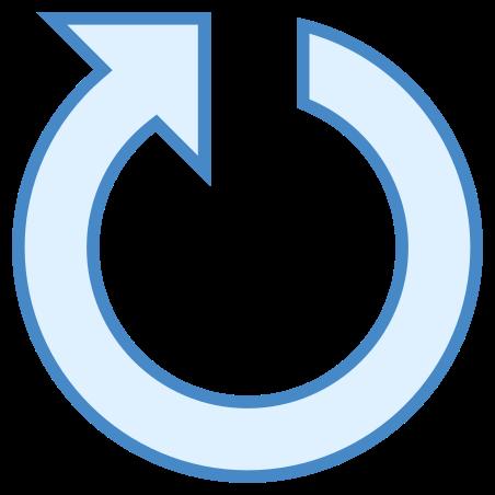 Restart icon in Blue UI