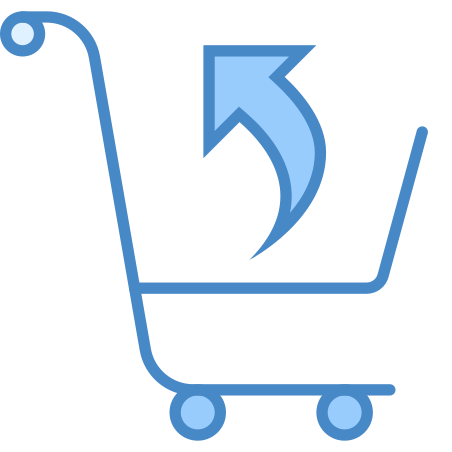 Return Purchase icon in Blue UI