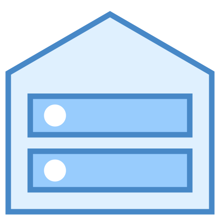 Root Server icon in Blue UI