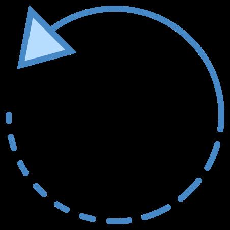 왼쪽으로 회전 icon