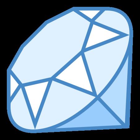 Ruby Programming Language icon in Blue UI
