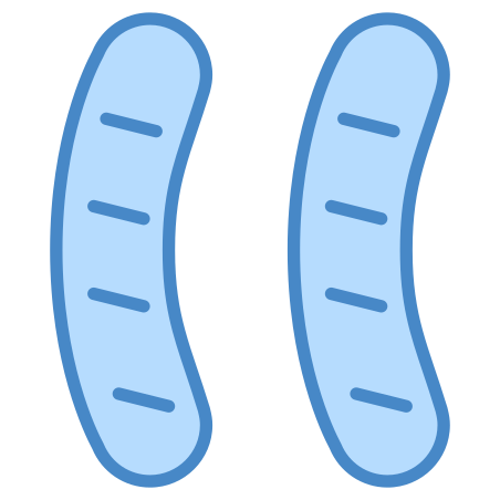 Sausages icon in Blue UI