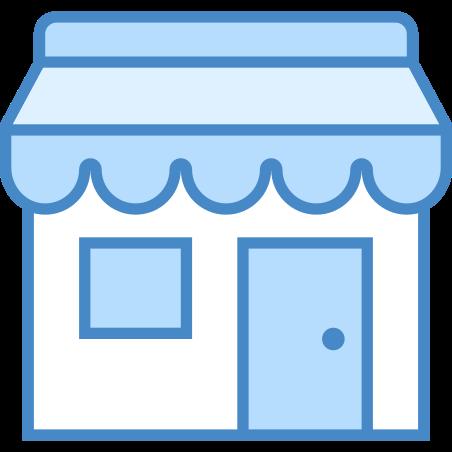 Shop icon in Blue UI