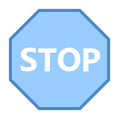 Stop Sign icon in Blue UI