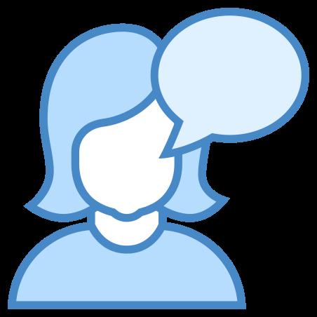 Talk icon in Blue UI