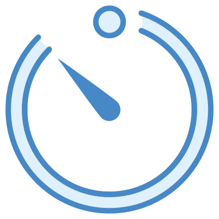 Timer icon in Blue UI